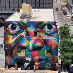 Eduardo Kobra homenageia Louis Armstrong com mural em New Orleans Graffiti Murals, Street Art Graffiti, Wall Murals, Wall Art, Arthur Rubinstein, Louis Armstrong, West Palm Beach, Kobra Street Art, New Orleans