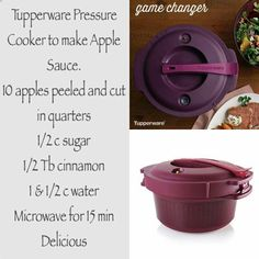 Applesauce Tupperware Pressure Cooker Recipes, Microwave Pressure Cooker, Tupperware Recipes, Microwave Recipes, Pressure Cooking, Cooking Recipes, Pressure Cooker Applesauce, Tupperware Consultant, Dessert For Dinner