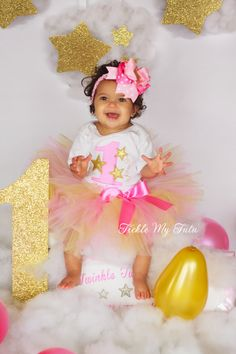 Twinkle Twinkle Little Star Birthday Tutu Outfit-Star Themed Birthday Tutu Outfit-First Birthday Star Party Outfit *Bow NOT Included* by TickleMyTutu on Etsy https://www.etsy.com/listing/215867889/twinkle-twinkle-little-star-birthday