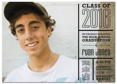 Text Blocks Graduation Announcement from www.papersnaps.com    http://www.papersnaps.com/announcements/graduation-announcements/high-school-and-college-graduation-announcements/text-blocks-graduation-announcement.html    #GraduationAnnouncements