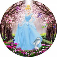 Mermaid Cupcake Toppers, Mermaid Cupcakes, Circuit Machine, Pin Up Drawings, All Disney Princesses, Edible Printing, Boarders, Princesas Disney, Halloween Decorations