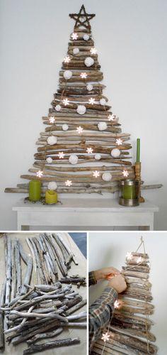 Inspiração do Dia Natal Arvore de galho