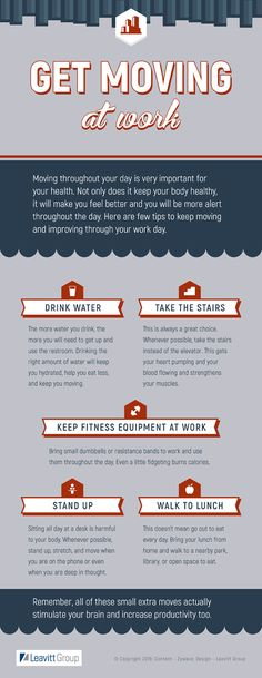 Break time! Get up and get moving at work with these tips.
