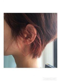 【サロンワーク】インナーカラー×ショート×ピンク