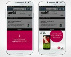 Publicidad creativa de LG reconoce nuestro smartphone y lo compara con el G2, resaltando las virtudes de éste último.