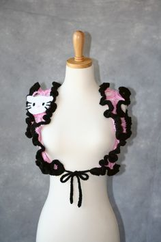 Pretty Pink HK Ruffled Crochet Bolero
