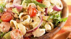 Rakuunainen tonnikala-pastasalaatti