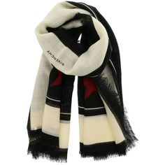 Givenchy Scarf (1.155 BRL) ❤ liked on Polyvore featuring accessories, scarves, givenchy, wool shawl, wool scarves and givenchy scarves