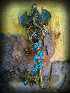Dream Dragon Fantasy Key by ArtbyStarlaMoore on Etsy, $15.00