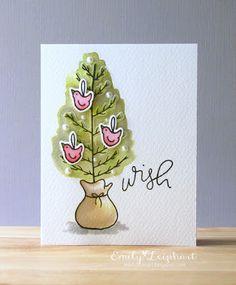 Wish Card by Emily Leiphart for the #EllenHutsonLLC blog. #EssentialsbyEllen #HomespunHoliday