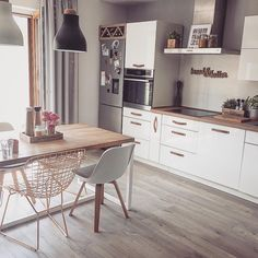 Modern Dining Room Chairs That Will Change Your Home Decor Dining Table Lighting, Furniture Dining Table, Modern Dining Table, Small Dining, Wooden Furniture, Dining Tables, Small Kitchen With Table, Rooms Furniture, Round Tables