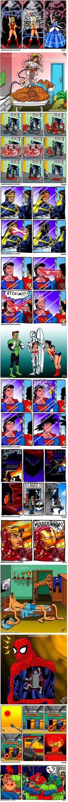 The Funniest Superhero Comics Collection (Part 4)
