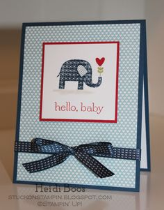 baby elephant card stampin' up -