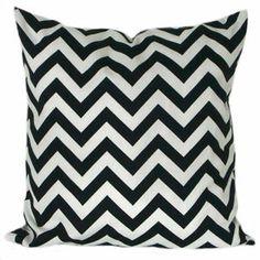 Kissenhülle Kissenbezug Kissen 50 x 50 cm Chevron schwarz-weiß modern Streifen