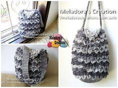 crocodile stitch draw crochet easy bag free pattern