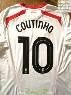 Official Warrior Liverpool away football shirt from the 2013/2014 season. Complete with Coutinho #10 on the back of the shirt in European lettering.