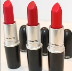 Different shades of red by MAC