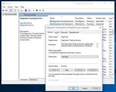 Windows 10 prior to the Threshold 2 update shows 'Diagnostics Tracking Service'. Image credit: Tweakhound