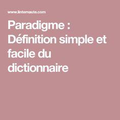 Paradigme : Définition simple et facile du dictionnaire