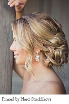 Today's brides inspiration photo. Tara replicated the look perfectly!
