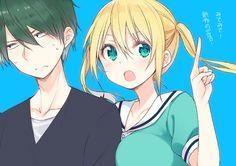 Oh...so love this couple desu   — Akizuki and... ;_; I don't remember her name desu T.T they're in Blend S desu :v