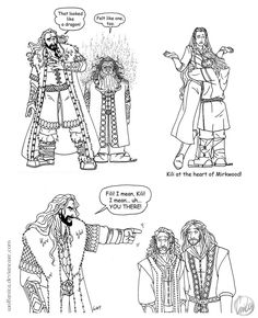 Three old Hobbit gags from my To Do Folder I never coloured or drew in detail for various reasons. --------------------------------------------------------------------------------------------------...