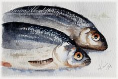 Tuesday Watercolors - Fish Karin Åkesdotter