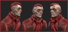 First pinterest upload. Red guy sculpt made in 3d-coat. Rendered in zbrush.