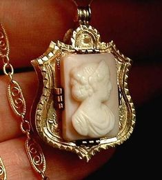 Antique Georgian VICTORIAN Cameo HAIR Locket #AntiqueJewelry