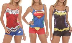Women's DC Comics Cami and Shorts PJ Set. Multiple Styles Available. If only there were MARVEL options!!!