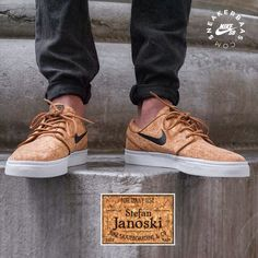 #nike #nikesb #stefanjanoski #cork #sneakerbaas #baasbovenbaas  Nike Sb Stefan Janoski 'Cork'- Another Cork release this year! We can't get enough of this fresh colorway and use of materials.  Now online available | Priced at 99.95 EU | Men Sizes 36- 46 EU