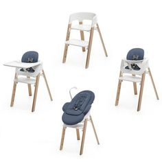Chaise haute Steps avec plateau et baby kit, Stokke Stokke Steps, Cute Desk Chair, Desk Chairs, Baby Deco, Recycled Plastic Adirondack Chairs, Herman Miller Aeron Chair, Baby Kit, Mid Century Dining Chairs, Baby Love