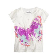 jCREW Girls' glow-in-the-dark butterfly tee