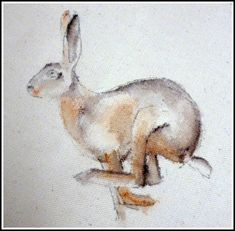 Image result for machine embroidered hare