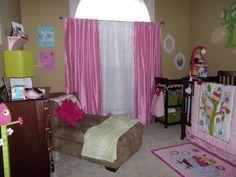 Zutano Owl baby girl room