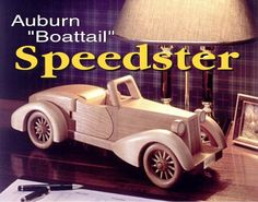 Auburn Boattail Speedster Model Car Downloadable Woodworking Plan PDF