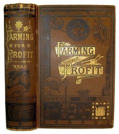 Antique FARMING GUIDE Crops Barn Mechanic Plow Tools Horse Bees Fruit VICTORIAN
