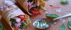 Tortilla zabpehelylisztből - egyszerűen elkészíthető zab tortilla - Salátagyár Fresh Rolls, Food Inspiration, Food Porn, Food And Drink, Gluten Free, Mexican, Bread, Meals, Cooking