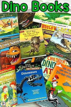 Do you have kids who LOVE dinosaurs? Then, they are sure to enjoy reading these stories about the pre-historic animals! This list of fiction and non-fiction Dinosaur Books For Your Future Paleontologists will be a great addition to your Dinosaur unit too. This selection of picture books and chapter books are perfect for preschoolers, kindergartners, and early elementary children. Click on the picture to see our favorite Dinosaur Books for Kids! #dinosaurbooks #dinobooks #booksforkids