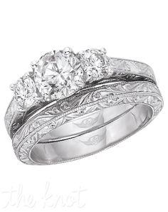 Engagement Ring/ wedding band pair