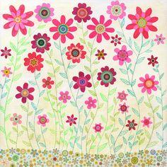 Rose Floral peinture printemps rétro fleur peinture 20 par Sascalia