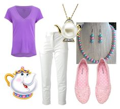 """""""Mrs. Potts Cruise Bound"""" by cassondracohen on Polyvore featuring Etro, H&M and disneybound"""