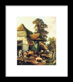 Thomas Sidney Cooper - A Farm In Kent Framed Print featuring the painting A Farm in Kent by MotionAge Designs Fine Art Prints, Framed Prints, World Famous Artists, Vintage Travel Posters, Frame Shop, Van Gogh, Clear Acrylic, Art Images, Fine Art America