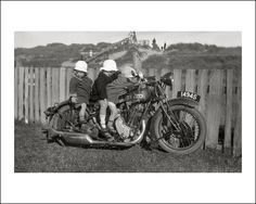 Some of the local kids trying to make off with a BSA motorcycle from Seaspray, on the southern coastline of Victoria, Australia. https://www.flickr.com/photos/69559277@N04/9022012823/