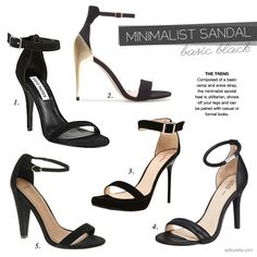 Black Minimalist Sandal Heel: never been so in Love with a shoe style