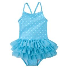 Circo® Girls Infant Toddler Girls One-Piece Ruffle Swim Suit - Blue Summer Baby, Summer Girls, Toddler Swimsuits, Cute Baby Girl, Baby Baby, Baby Kids, Girls Bathing Suits, Cute Outfits For Kids, Children Outfits