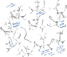 how to draw people kissing