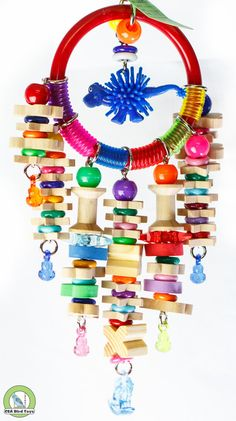Bird Toys - These are awesome!  Makes me wish I had some birds!  Her prices are so GREAT!  Fancy Marbella Ring by CrackedEggBirdToys on Etsy, $10.50