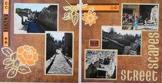Travel scrapbook 2 page layout of the streets of Herculaneum, which is better preserved than Pompeii - from Travel Album 11 - Herculaneum, Italy