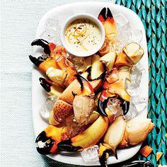 30 Mouth-Watering Crab Recipes   Stone Crab Claws with Zesty Orange-Horseradish Sauce   CoastalLiving.com